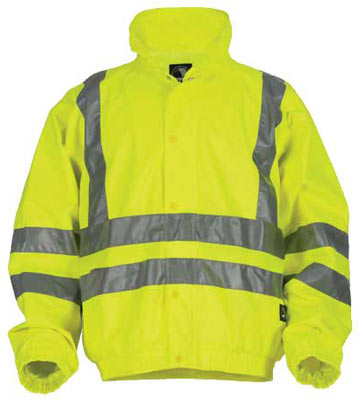 ANSI Class 3 High-Visibility Lime Safety Rain Jacket - Big and Tall Sizes d978bb2879c